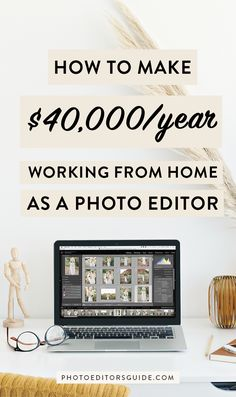 How I make full-time income working from home, editing photos online! Learn how to make money as a private photo editor with a boutique photo editing business. Get the training for the technical + business skills you need to become a photo editor! Earn Money From Home, Way To Make Money, Make Money Online, How To Make, Money Fast, Learn Online, Work From Home Opportunities, Work From Home Jobs, Affiliate Marketing