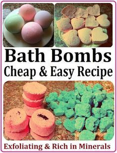DIY Bath Bombs / Fizzies Recipe, How to Make SPA Products CHEAP, EASY  QUICK! Homemade Gift Idea for Saint Valentine's Day, Birthday, Mother's Day or Christmas.