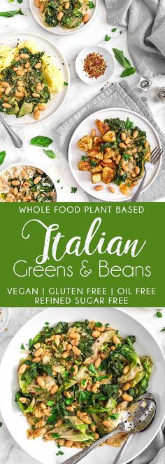 YUMMY Italian Greens and Beans! Wholesome greens and hearty beans with delicious Italian flavors! #vegan #glutenfree #oilfree #italiangreensandbeans #vegangreens #veganbeans #veganitalianrecipes #plantbasedrecipe #vegandinner #escarole #swisschard #spinach #veganmeal #plantbased #refinedsugarfree #healthy #healthyvegan #picnic #monkeyandmekitchenadventures #recipe