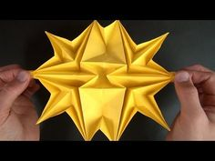 Origami Starburst - YouTube