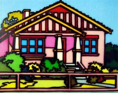 """Howard Arkley - his works really need to be seen """"in the flesh"""" to be appreciated, especially the large scale pieces."""