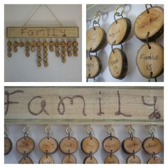 Wooden memory kit   Family Birthday Calendar by TheDigitalWoods, £30.00