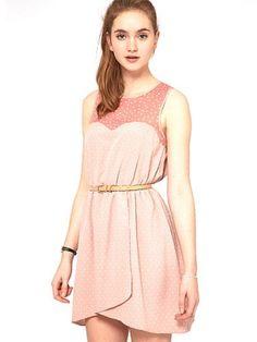 Spot Dress with Contrast Spot