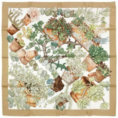 GABRIELLE'S AMAZING FANTASY CLOSET | Hermes JARDIN SECRET Silk Scarf by VALERIE DUMOULIN