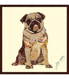 Animal Collage Art - Pug