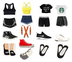 """""""outfits for bbbf"""" by thatanimeefreakk on Polyvore featuring LE3NO, Converse, Madewell, adidas, adidas Originals, Aéropostale and NIKE"""