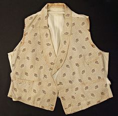 e772cfecf8 (c. 1830-1835) American waistcoat made of cotton. Antique Clothing