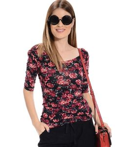 Shop ModDeals.com for Black Floral Rush Scoop Neck Top  in our cheap trendy Tops category. Find trendy cheap clothing for women, discount shoes, jewelry sales, perfume & cheap accessories for women.