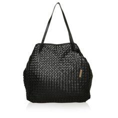 Abro Tasche – Piuma Tote Braided Nappa Black – in schwarz – Henkeltasche für Damen
