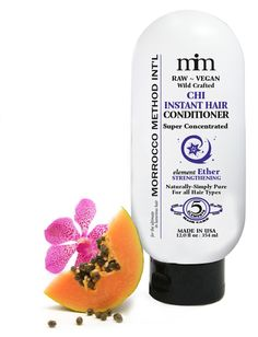 Chi Instant Conditioner is formulated with natural cactus, olive oil, and apple cider vinegar to stimulate, rejuvenate, and revitalize your hair and scalp. This rinse-out conditioner is perfect for ALL hair types. #vegan #organic #nongmo