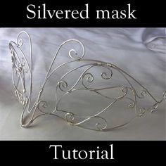 Silvered mask pattern on Craftsy.com