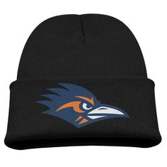 Utsa Roadrunners 1 Logo Kids Skullies And Beanies Black. Surface Material: 85% Cotton. Knit Beanies. Stylish Outdoor Activities. 7.8 Inch Depth. Hand Wash.