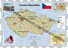 Mapa poglądowa Czech