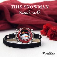 Snow FUN! This leather wrap bracelet is the perfect gift! AND it's interchangeable magnetic insert allows to be worn all year long! Just swap out the Design Insert and add a new one. 100's to choose from!  https://magnabilities.com/fitting-room/147883736658254476efb3f
