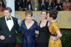 Sophie McShera, Phyllis Logan, and Amy Nuttall from #DowntonAbbey (and cutie Allen Leech)
