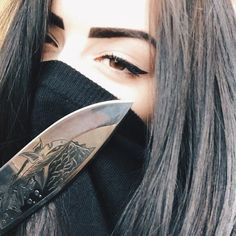 Image uploaded by Aჳεթδαйðжαηка✓. Find images and videos about girl and knife on We Heart It - the app to get lost in what you love.