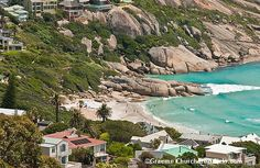 Llandudno Beach in Cape Town - magnificent small beach and the sea just has a stunning colour.