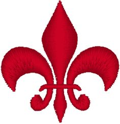 """Fleur de lis #4 Embroidery Design. The English translation of """"fleur-de-lis"""" (sometimes spelled """"fleur-de-lys"""") is """"flower of the lily."""" Traditionally it has represented French royalty and is said to signify perfection, light, and life."""