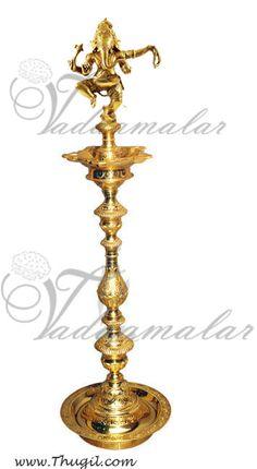 Dancing Ganesha on a Brass Diya  http://www.thugil.com/dancing-ganesha-brass.html