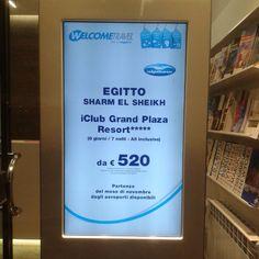 Digital signage #travel #egitto #welcometravel #demidoffviaggi #digital #travelinlove #digitalsignage #totem