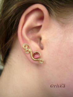 Ear pins, ear sweeps, ear vines Wire wrapped