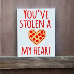 You've Stolen A Pizza My Heart Hand Painted by LittleDoodleDesign