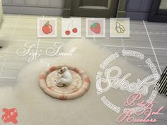 S sweets pet bed small recolor the cc Sims 4 Mods, Sims 4 Game Mods, Sims 4 Clothing, Dog Clothing, Pet Clothes, Sims 4 Cc Furniture, Cat Furniture, Tumblr Sims 4, Sims Pets