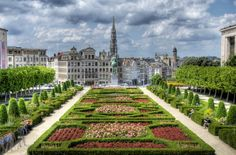 Brussels, view on downtown from Mont des Arts. www.visitbrussels.be