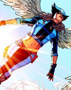 "Hawkgirl ""Kendra Saunders in Earth Society "" Dc Comics Women, Dc Comics Superheroes, Dc Comics Art, Marvel Dc Comics, Comic Book Characters, Comic Character, Kendra Saunders, Hawkgirl, Female Hero"