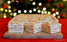Prăjitura Medovik cu foi cu miere și cremă de smântână   Savori Urbane Creme Caramel, Vanilla Cake, Gem, Sweet Tooth, Easy Meals, Desserts, Recipes, Food, Custard
