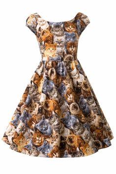 Retrolicious - 60s Purrfect Cute Kitty Cat Dress