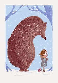 ILLUSTRATION BARBARA SCHOLZ: Ganz neu, ganz frei und jetzt ganz digital .... Art And Illustration, Illustrations Posters, Cartoon Drawings, Animal Drawings, Bear Art, Fractal Art, Cute Art, Illustrators, Character Design