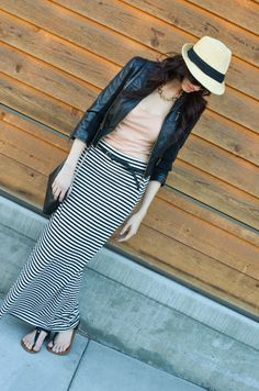 cute striped skirt outfit idea by CarahAmelie