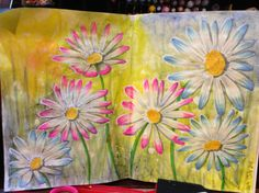 Art journal page by DebbieBuckland Gelatos, copic markers