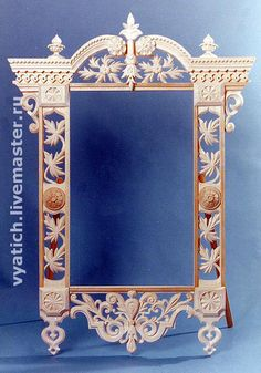 Modern version of a traditional Russian window frame.