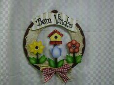 Guirlanda md flores casinha depassarinho   Artesanatos Ingrid Carvalho   16E413 - Elo7