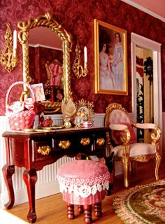 victorian dollhouses | Victorian Dollhouse Bedroom and Bathroom, 1:12 Scale Miniatures, Pt. 4
