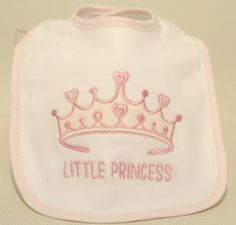 Baby Girl Bibs, Pack of 3 #prince #baby #babygift #gifts #personalised #personalise #embroidery #blue #pink #photoframe #frames #keepsakes #memories #princess #babygift #babyshower #present #presents #giftguide #babypresent #gifting #children #love #congratulations #mazaltov #holidays #chanukah #birthdays #babyboy #babygirl #towel #monogramed #towelling #homeware #decor #homegifts #monogram #monogramming #bespoke #toys #teddybear
