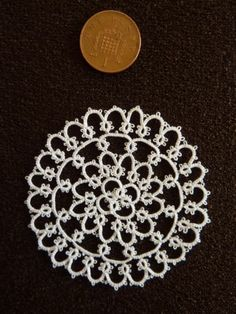 Dolls House Tablemat Made from Tatting | eBay
