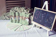 Green Wrapped Wedding Gifts | http://brideandbreakfast.ph/2011/10/27/wacky-and-wonderful/ | Photographer: Rock Paper Scissors