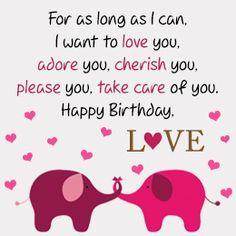 Birthday card with hearts for boyfriend