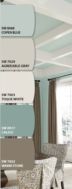 Neutral Paint Palette I love SW Agreeable Gray. We have that in our living and dining area. House Colors, Room Colors, House Design, New Homes, House Styles, Wall Colors, Home, House Painting, Color Combos