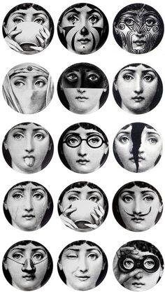 Fornasetti – o designer surrealista Tattoo Studio, Illustration Arte, Piero Fornasetti, Fornasetti Wallpaper, Photoshop, Grafik Design, Oeuvre D'art, Street Art, Mona Lisa