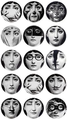 Plates by Fornasetti