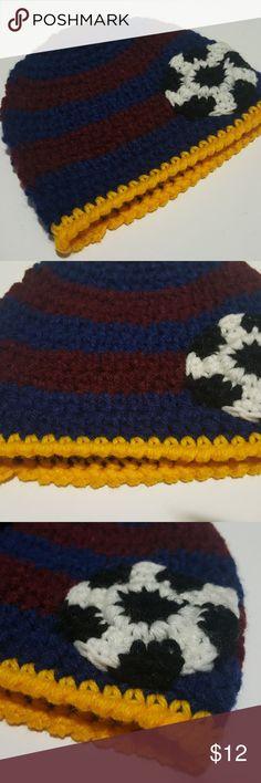 0350acd24ce Unisex Barcelona Spain Soccer Handmade Hat Beanie Firm price due to being  handmade. Unisex Brazil