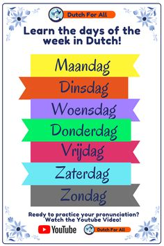 Dutch Language, German Language Learning, Learn A New Language, Travel Netherlands, Learn Dutch, Dutch Words, World Languages, Dutch Recipes, Word Of The Day