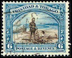 Trinidad & Tobago #37a Stamp  Discovery of Lake Asphalt Stamp