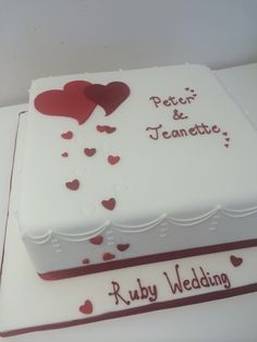 Cake Decorations For Ruby Wedding Anniversary : 40th Wedding Anniversary Cake My Cakes Pinterest ...