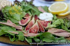 Receita de Salada com Figos e Cream Cheese