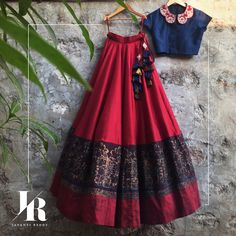 Blue red lehenga by Jayanti Reddy is the perfect sister of the bride outfit #Frugal2Fab